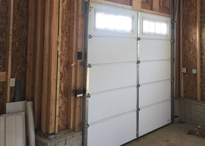 Amarr Garage Doors, 10' x 9', 2002, True White, Long Panel Thames