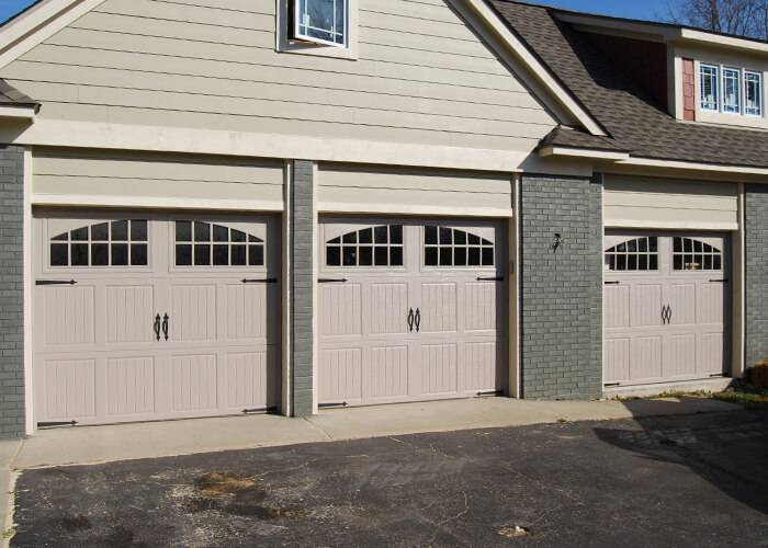 Amarr Garage Doors, 9' x 7', Classica Tuscany, Sandtone, with decorative hardware, Seine