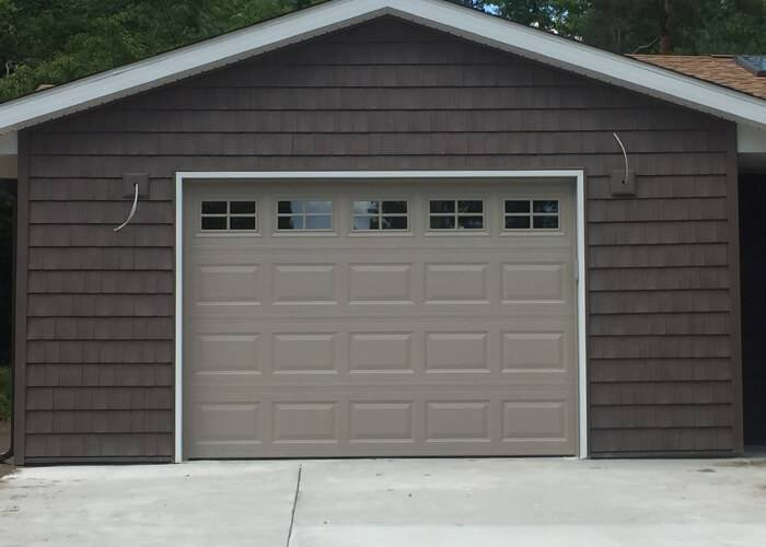 Amarr Garage Doors, 10' x 7', Stratford Short Panel, Santone, True White, Short Panel Stockton